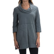 Neon Buddha Neighborhood Tunic Shirt - Cowl Neck, 3/4 Sleeve (For Women) in Valley Blue - Closeouts