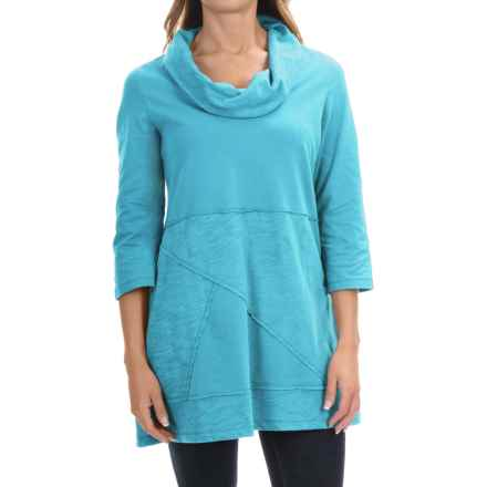 Neon Buddha Neighborhood Tunic Shirt - Cowl Neck, 3/4 Sleeve (For Women) in Valley Turquoise - Closeouts