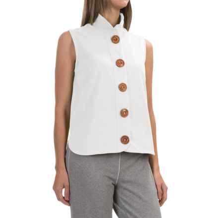 Neon Buddha Nirvana Shirt - Stretch Cotton, Sleeveless (For Women) in Barry White - Closeouts
