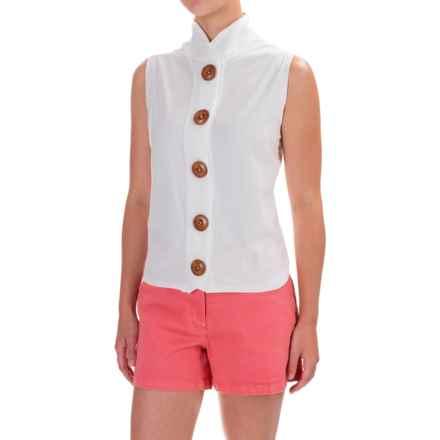 Neon Buddha Nirvana Shirt - Stretch Cotton, Sleeveless (For Women) in Off White - Closeouts