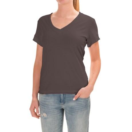 Neon Buddha Nirvana T-Shirt - Stretch Cotton, Short Sleeve (For Women) in 357 Dark Grey