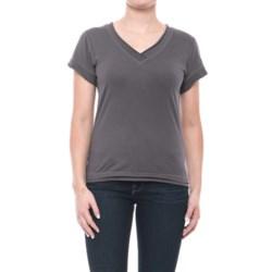 Neon Buddha Nirvana T-Shirt - Stretch Cotton, Short Sleeve (For Women) in Gypsy Slate