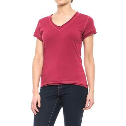 Neon Buddha Nirvana T-Shirt - Stretch Cotton, Short Sleeve (For Women) in Inspiring Red - Closeouts