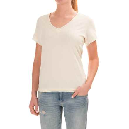 Neon Buddha Nirvana T-Shirt - Stretch Cotton, Short Sleeve (For Women) in Lovely Cream - Closeouts