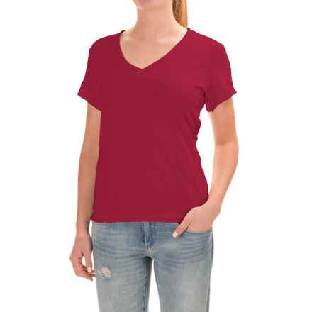Neon Buddha Nirvana T-Shirt - Stretch Cotton, Short Sleeve (For Women) in Red Current - Closeouts