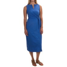 Neon Buddha Nomad Tie Dress - Stretch Cotton, Sleeveless (For Women) in Camp Blue - Closeouts