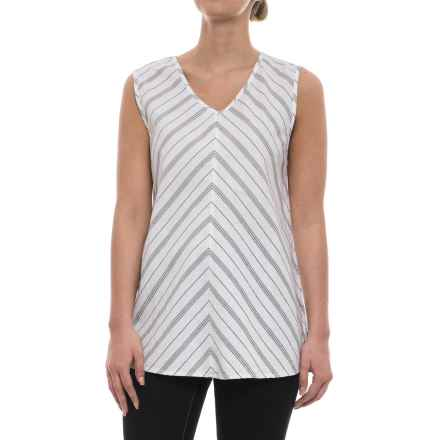 Neon Buddha Palmdale Shirt - Linen-Rayon, Sleeveless (For Women) in Barry White - Closeouts