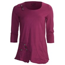 Neon Buddha Peggy Sue Shirt - 3/4 Sleeve (For Women) in Bordeaux Wine - Closeouts
