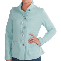 Neon Buddha Raw-Edge Fleece Blazer (For Women) in Urban Mint