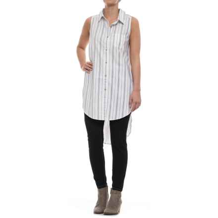Neon Buddha Redlands Tunic Shirt - Linen-Rayon, Sleeveless (For Women) in Barry White - Closeouts