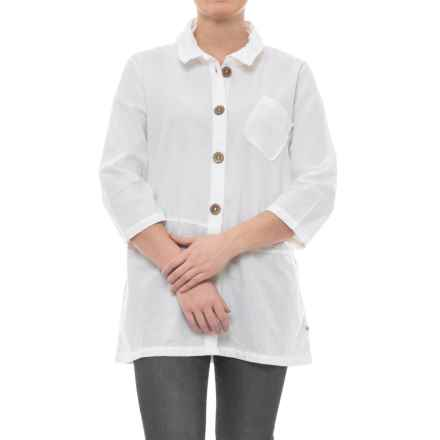 Neon Buddha Reedley Blouse - Wired Collar, 3/4 Sleeve (For Women) in Barry White - Closeouts