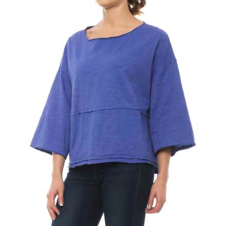 Neon Buddha Retro Raw-Edge Shirt - Relaxed Fit, 3/4 Sleeve (For Women) in Abbotsford Blue - Closeouts