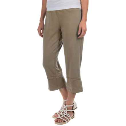 Neon Buddha Roberta Capris - Stretch Cotton (For Women) in Riverstone - Closeouts
