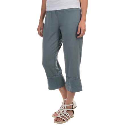 Neon Buddha Roberta Capris - Stretch Cotton (For Women) in Valley Blue - Closeouts