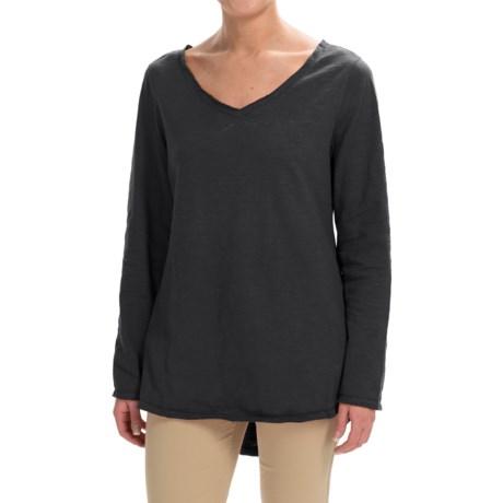 Neon Buddha Runaway Cotton Split-Back Shirt - Long Sleeve (For Women) in Black