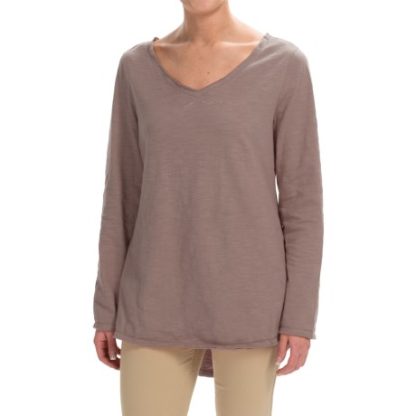 Neon Buddha Runaway Cotton Split-Back Shirt - Long Sleeve (For Women) in Taupe