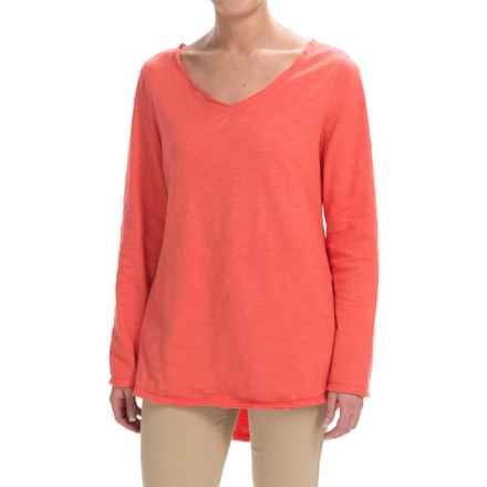 Neon Buddha Runaway Split-Back Shirt - Long Sleeve (For Women) in Coral - Closeouts