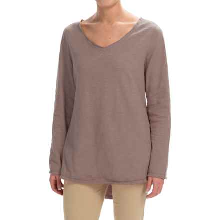 Neon Buddha Runaway Split-Back Shirt - Long Sleeve (For Women) in Taupe - Closeouts