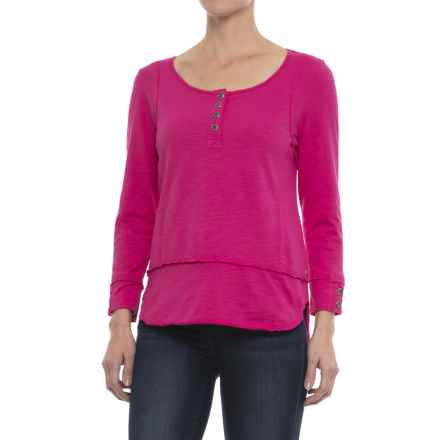 Neon Buddha Sadie Henley Shirt - Long Sleeve (For Women) in China Cat Pink - Closeouts