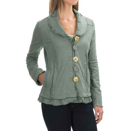 Neon Buddha Saffron Jacket - Button Front (For Women) in Recycled Sage - Closeouts