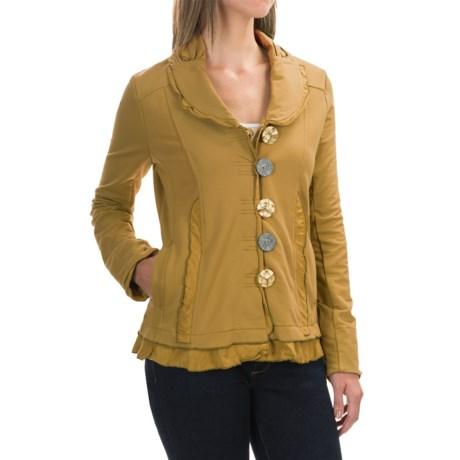 Neon Buddha Saffron Jacket - Button Front (For Women) in Sagay Curry