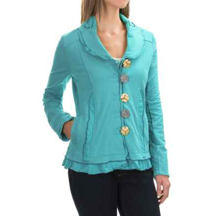 Neon Buddha Saffron Jacket - Button Front (For Women) in Turquoise - Closeouts