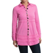 Neon Buddha Sage Shirt - Long Sleeve (For Women) in Craft Pink - Closeouts