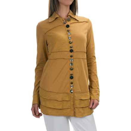 Neon Buddha Sage Shirt - Long Sleeve (For Women) in Mustard Seed - Closeouts