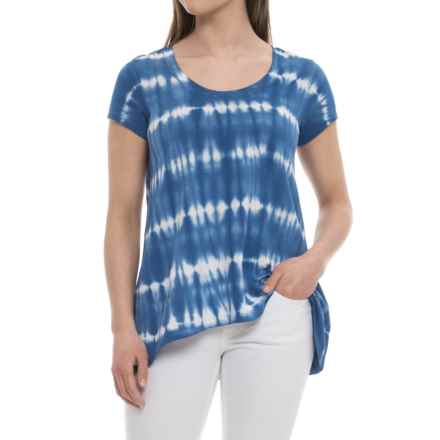 Neon Buddha Sage Shirt - Short Sleeve (For Women) in Blue - Closeouts
