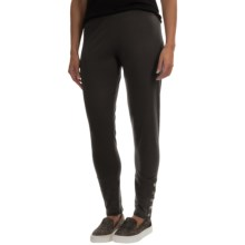 Neon Buddha Samba Button Leggings - Stretch Cotton (For Women) in Black - Closeouts