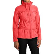 Neon Buddha Sassy Ruffle Jacket - Stretch Cotton Jersey (For Women) in Coastal Coral - Overstock