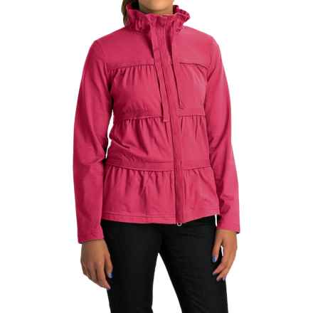 Neon Buddha Sassy Ruffle Jacket - Stretch Cotton Jersey (For Women) in Deluxe Pink - Overstock