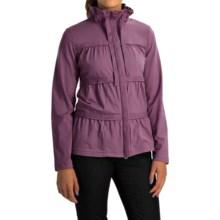 Neon Buddha Sassy Ruffle Jacket - Stretch Cotton Jersey (For Women) in Summer Plum - Overstock