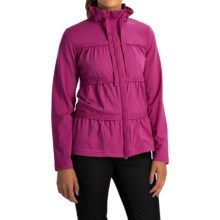 Neon Buddha Sassy Ruffle Jacket - Stretch Cotton Jersey (For Women) in Winter Berry - Overstock