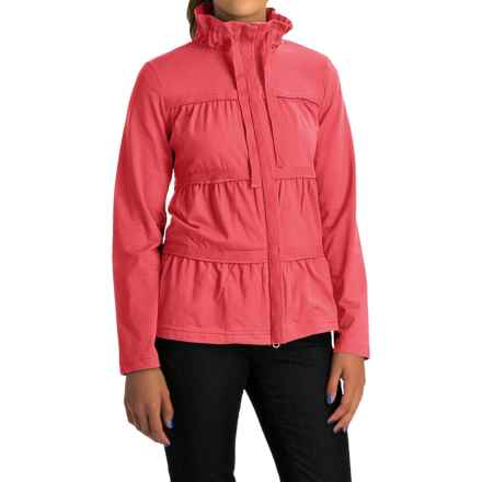 Neon Buddha Sassy Ruffle Jacket - Stretch Cotton Jersey (For Women) in Winter Coral - Overstock