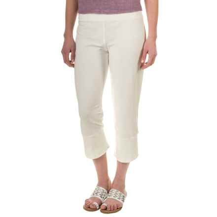 Neon Buddha Seascape Capris - Stretch Jersey (For Women) in Cream - Closeouts