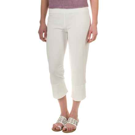 Neon Buddha Seascape Capris - Stretch Jersey (For Women) in Off White - Closeouts