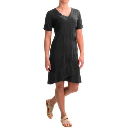 Neon Buddha Seaside Mixed-Cotton Dress - Short Sleeve (For Women) in Black - Closeouts