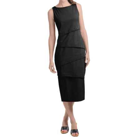 Neon Buddha Shanghai Cotton Jersey Tank Dress - Sleeveless (For Women) in Black - Closeouts