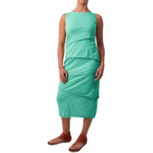 Neon Buddha Shanghai Tiered Tank Dress - Stretch Cotton (For Women) in Clean Turquoise - Closeouts