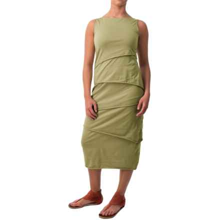 Neon Buddha Shanghai Tiered Tank Dress - Stretch Cotton (For Women) in Mountain Moss - Closeouts