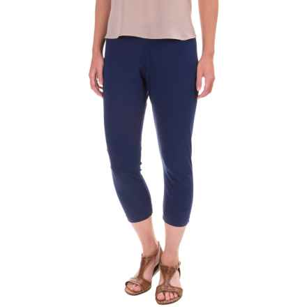 Neon Buddha Skinny Capri Leggings - Stretch Cotton Jersey (For Women) in Ink - Overstock