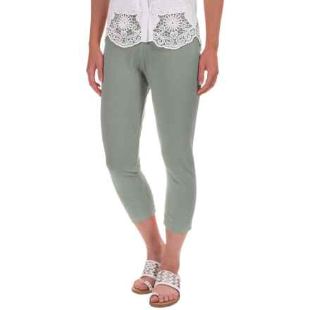 Neon Buddha Skinny Capri Leggings - Stretch Cotton Jersey (For Women) in Touch Of Grey - Overstock