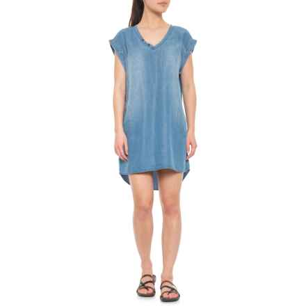 80bb12f58e Neon Buddha Sky Blue Coastal Dress - Short Sleeve (For Women) in Sky Blue