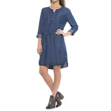 Neon Buddha Starry Dress - TENCEL®, Long Sleeve (For Women) in Indigo - Closeouts