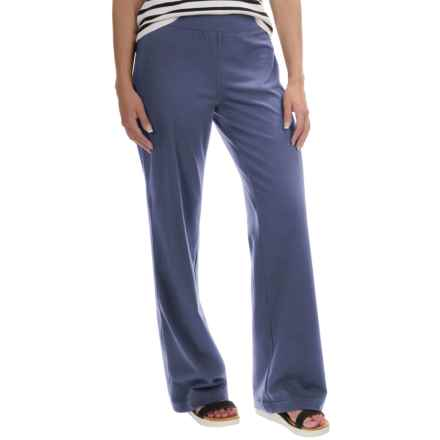 Neon Buddha Straight-Leg Pants - Stretch Cotton (For Women) in Blue Mountain - Closeouts