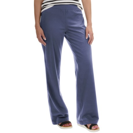 Neon Buddha Straight-Leg Pants - Stretch Cotton (For Women) in Blue Mountain