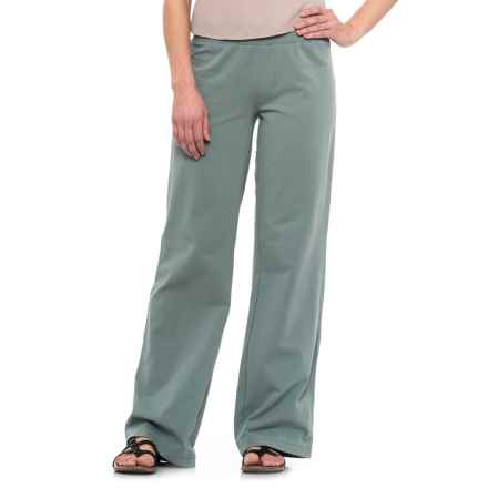 Neon Buddha Straight-Leg Pants - Stretch Cotton (For Women) in Sweet Sage - Closeouts