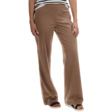 Neon Buddha Straight-Leg Pants - Stretch Cotton (For Women) in Taupe - Closeouts