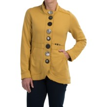 Neon Buddha Street Blazer - French Terry (For Women) in Mustard Seed - Closeouts